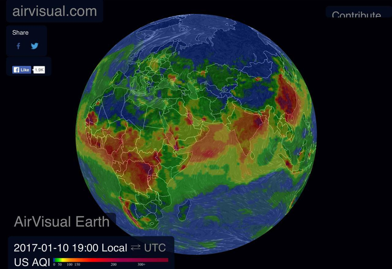 رصد آلودگي شهرهاي مختلف جهان طي ماه هاي اخير
